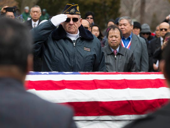 Robert Clemen of American Legion Post 416 in Greendale