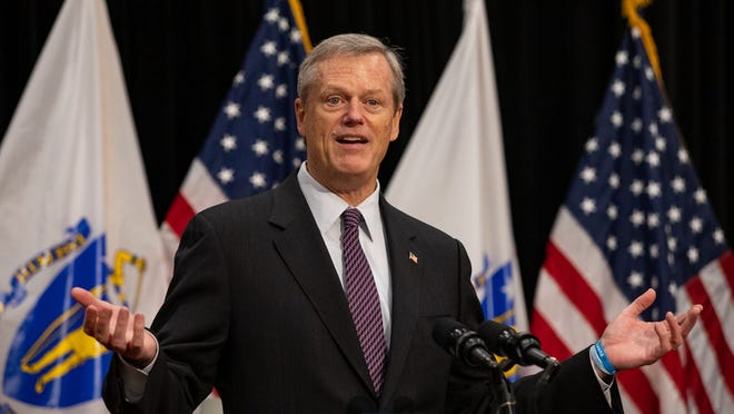 "Gov. Charlie Baker flagged several events including a ""large lifeguard party"" in Falmouth, an ""unauthorized football camp"" in South Weymouth, and a ""90-person prom party"" in Cohasset."