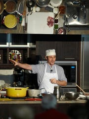 """Chef Stefano Viglietti presents during the 2015 Kohler Food and Wine. The Sheboygan chef will return to the Kohler stage this year for a seminar on """"Famous Small Plates of Venice"""" on Oct. 21."""