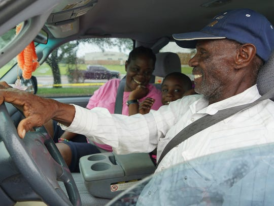 Convoy of Hope distributes goods to individuals effected by Hurricane Harvey.
