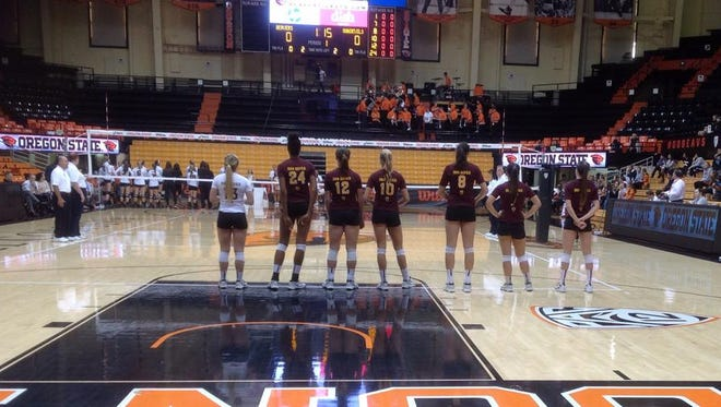 No. 18 ASU volleyball lost in a sweep at Oregon State on Saturday, one night after upsetting No. 11 Oregon