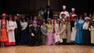 """The Ardmore Little Theatre's cast for """"Hello, Dolly!"""" joins together for a picture."""