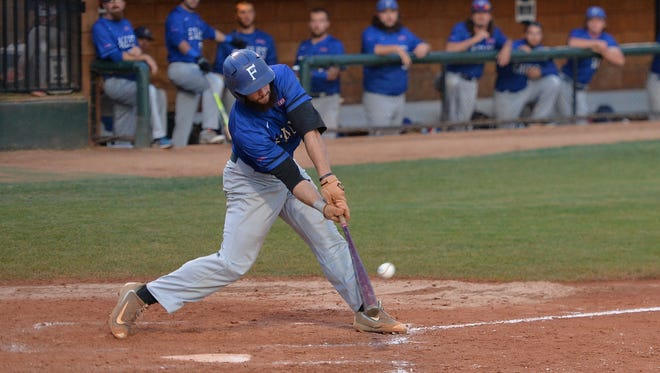T.J. Condon blasts a game-changing grand slam in the top of the sixth inning in Faulkner's NAIA World Series semifinal victory.