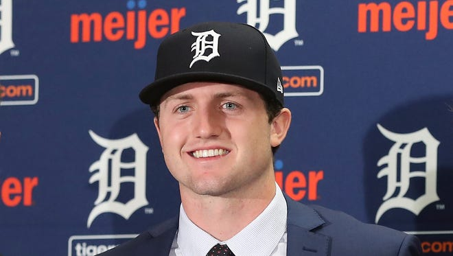 Detroit Tigers first-round pick Casey Mize was one of four finalists for the Golden Spikes Award.