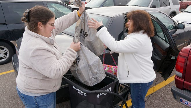 Jill and Linda Willis of Garden City did some Black Friday shopping last year at Westland Mall.