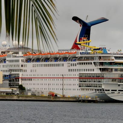 Carnival Sensation, docked at Port Canaveral, is one