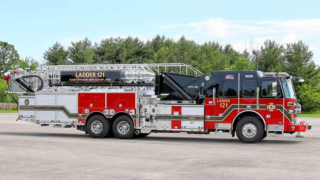 This Plain Township Ladder truck is shown in a file photo.