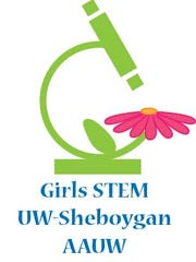 The STEM conference logo was designed by Grace Gagnon, a student at UW-Sheboygan. The first annual Girls' STEM conference takes place from 8 a.m. to 12:15 p.m. on Saturday, Nov. 4 at the campus.