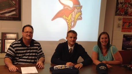 Princeton's Ryan Bricking signed today