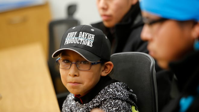 """Judy Nelson Elementary School student Xavier Horsechief has a speaking role in """"Hostiles,"""" a new western starring Christian Bale and Wes Studi that opens in major markets nationwide this weekend."""