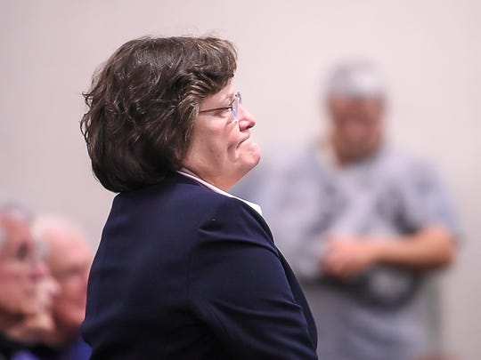 State Sen. Debbie Ingram, D-Chittenden, appears in Vermont Superior Court in Burlington on Thursday, November 2, 2017, to plead guilty to a DUI.