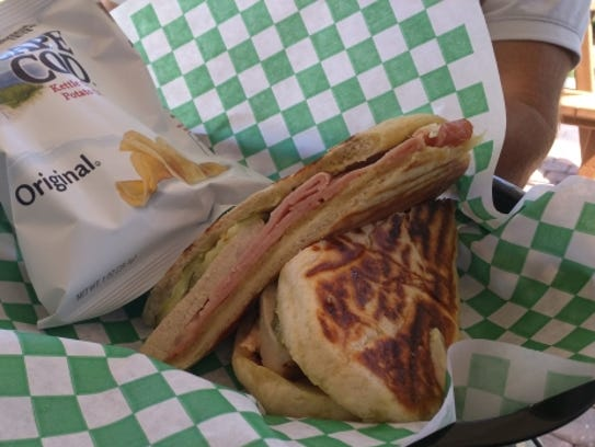 Cravings' rendition of a Cuban sandwich is the grilled