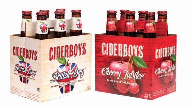 British Dry and Cherry Jubilee, two new flavors from the Ciderboys line from the Stevens Point Brewery.