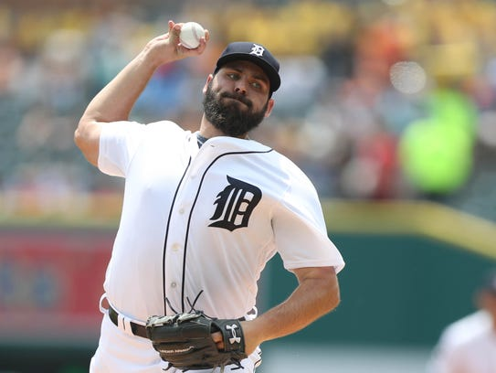 Michael Fulmer pitches against the Royals in the first