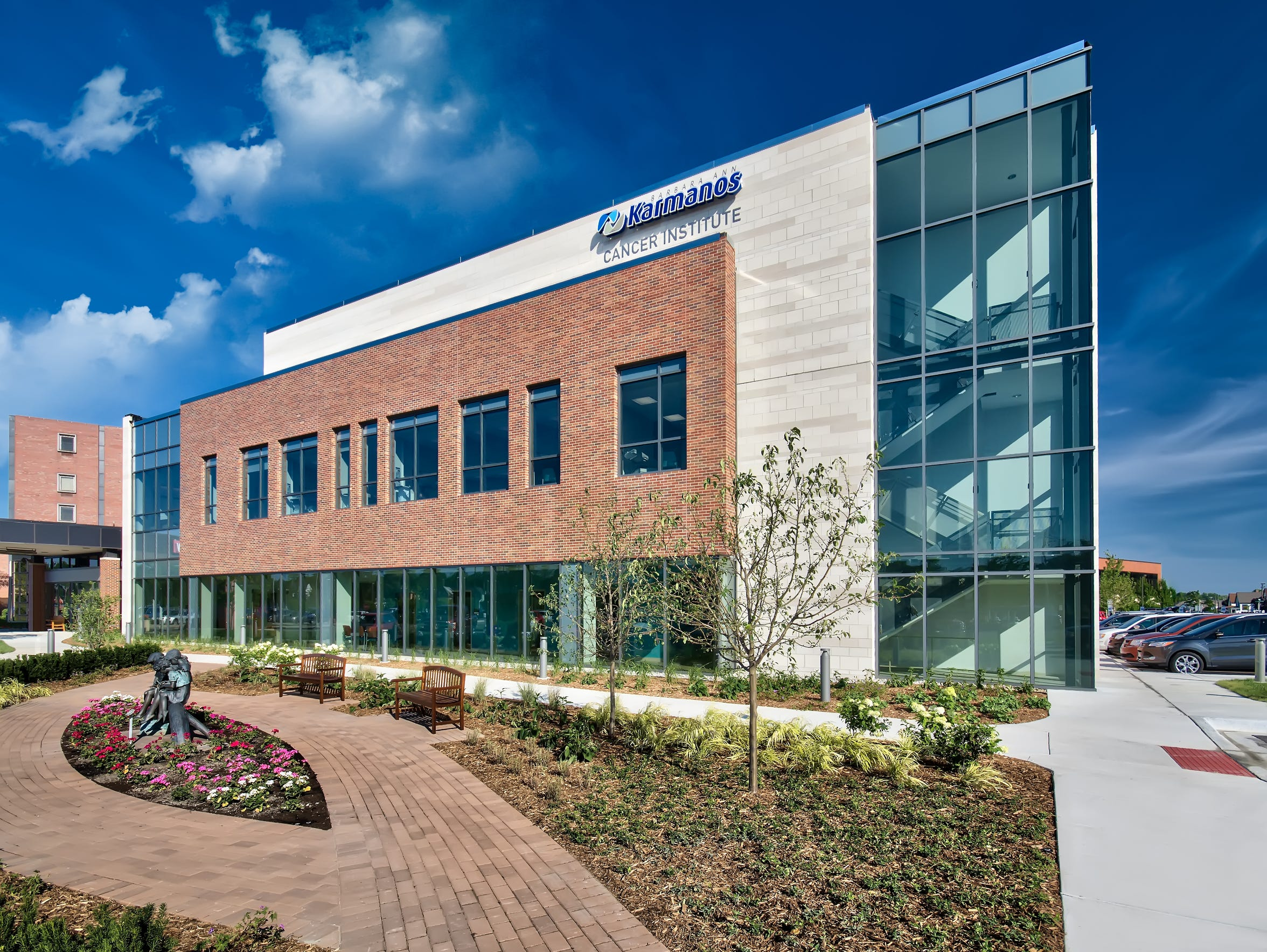 The newly constructed Barbara Ann Karmanos Cancer Institute