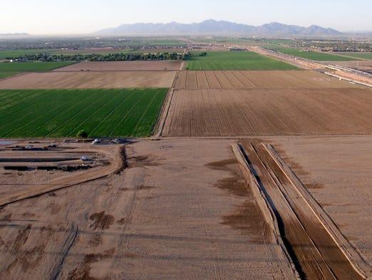 Dec. 25,2005: The site of the Arizona Cardinals stadium.