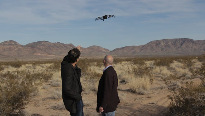USA TODAY's Ed Baig and Jefferson Graham check out EHang's Ghost drone in the Nevada desert.
