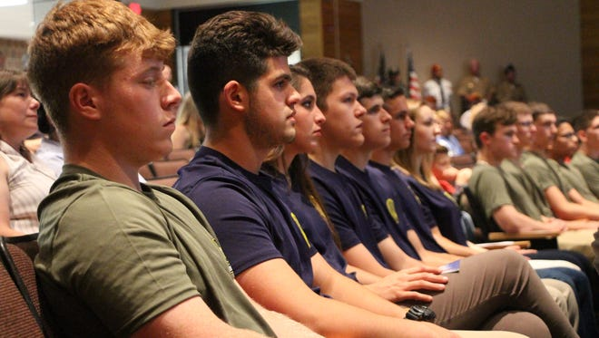 Fifty-nine graduating seniors entering the military were honored at Windsor High School's The First To Say Thank You event at Windsor High School.