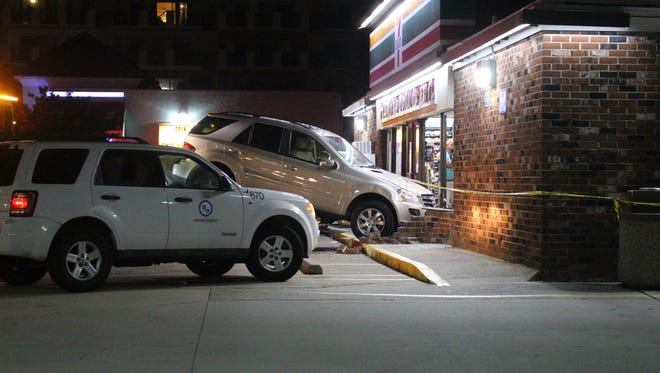 A car crashed into a 7-Eleven window on 139th Street in Ocean City on Monday, June 11, 2018.