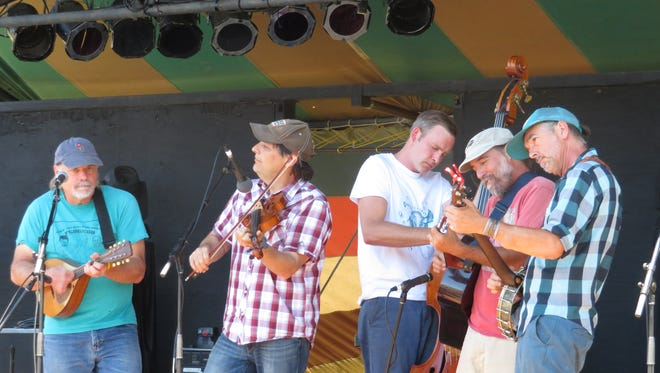 The Bubba George Stringband was the first band to perform at the GrassRoots Festival.