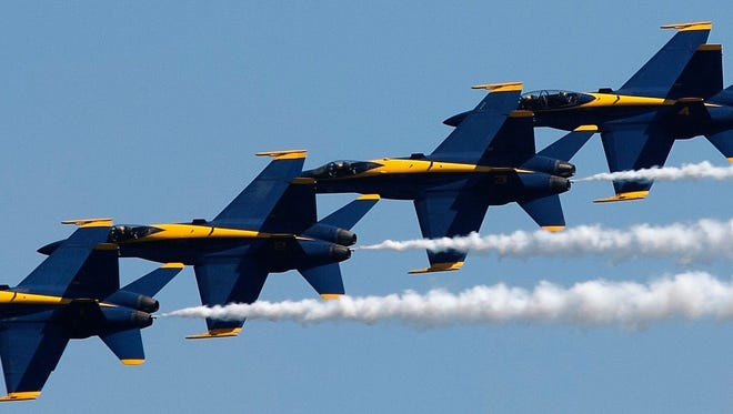The Blue Angels will perform at Seafar this weekend as part of the Boeing Air Show.
