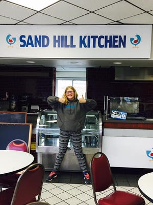 Sophie Hampton, 11, the daughter of Sand Hill Kitchen owner Jamie Wade.