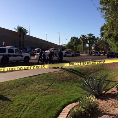 Scene of Phoenix officer-involved shooting, April,