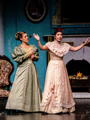 "Bethany Miller, left, and Cara Tortorice in Wilmington Drama League's production of Oscar Wilde's ""An Ideal Husband."""