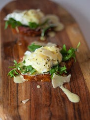 Eggs Benedict with truffle Hollandaise from Artisan