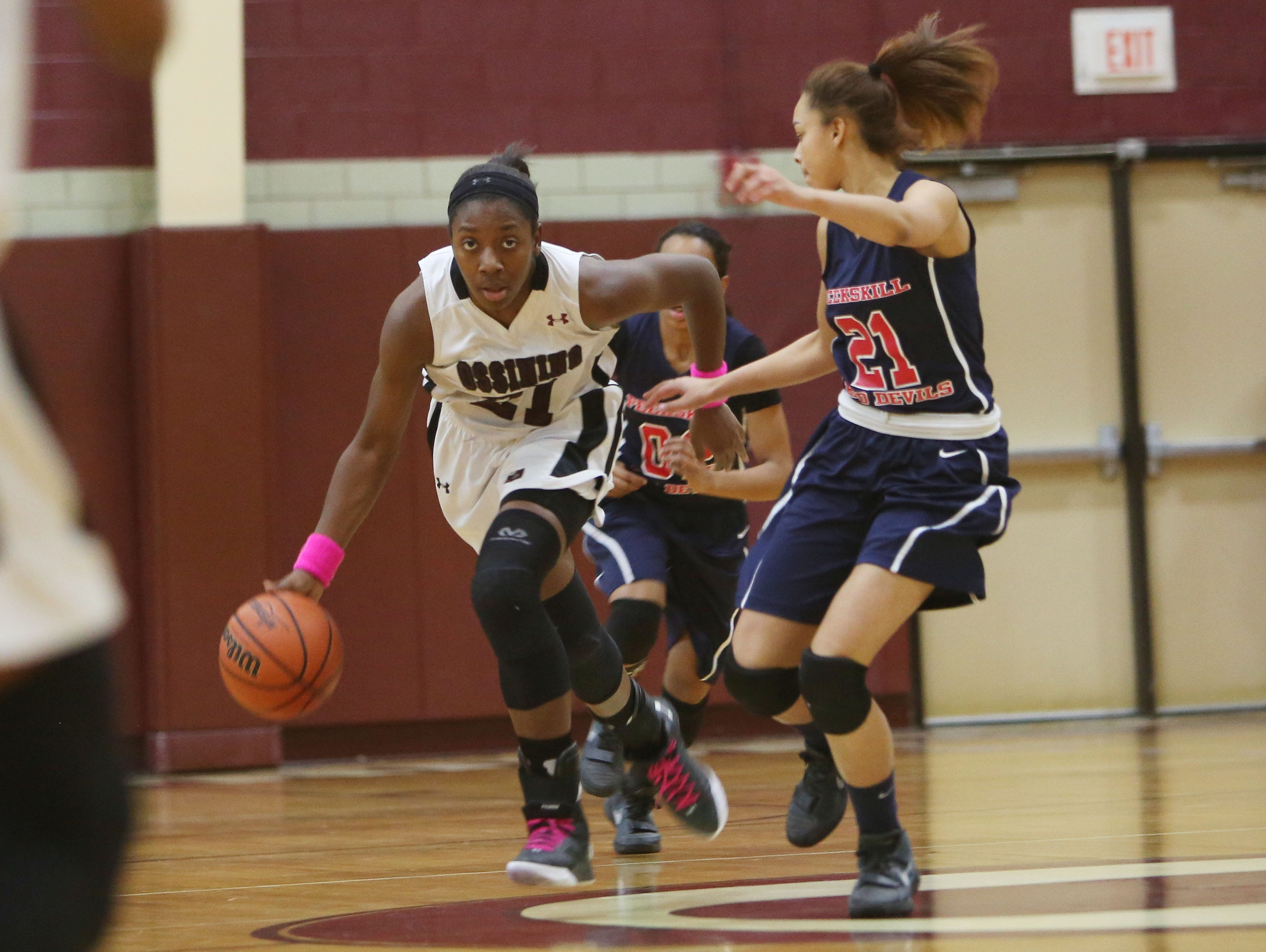 Ossining defeated Peekskill 103-76 in a girls basketball game at Ossining High School Feb. 2, 2016.