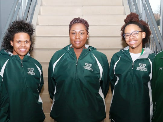 Pictured, from left, are Abigail S. Newsome, MVSU Honda Team coach; senior computer science major Kara Carter of Indianapolis; senior biology major Bria Daniels of Missouri City, Texas; senior chemistry major Kayla Bailey of University Park, Ill.; and Barbara J.P. Washington, MVSU institutional representative.