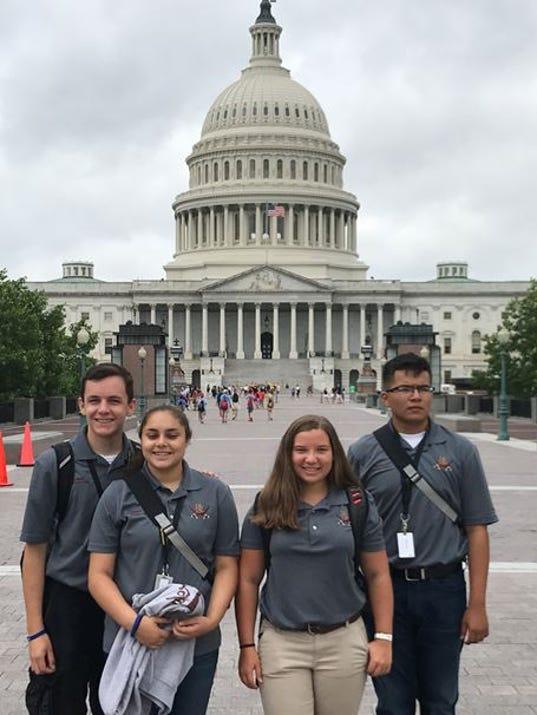 Riverdale's JROTC leadership team