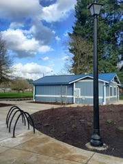 Stayton's Pioneer Park upgrades include new light poles, bike racks, a restroom with an attached concessions stand.