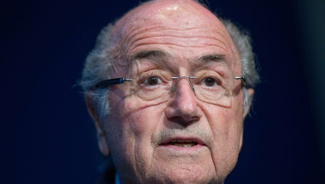 Amid a corruption scandal, Sepp Blatter said he would step down as FIFA president.