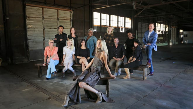 Designers participating in the Louisville Bespoke kick-off event at the Design Terminal, back row, from left to right: Ali Muhammad; Melissa Steurer, Ebonii Renell, Maggie Clines, Frances Lewis, Matt Multerer; front row: Lisa Kahl-Hillerich, Maya Williamson, Yamilca Rodriguez, Ralph London, Christine Robey. Lisa Kahl-Hillerich,