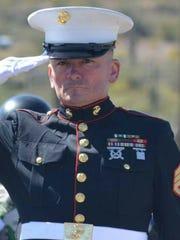 Saluting Marine Tim Chambers