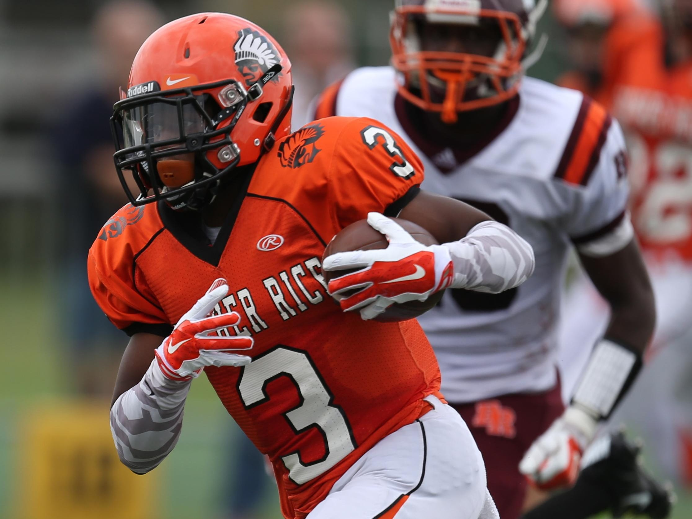 Birmingham Brother Rice's Delano Madison was injured all of his junior year and all but one half of the opener senior year.
