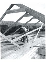 Edward Shapley built his Hawleyton home by hand.
