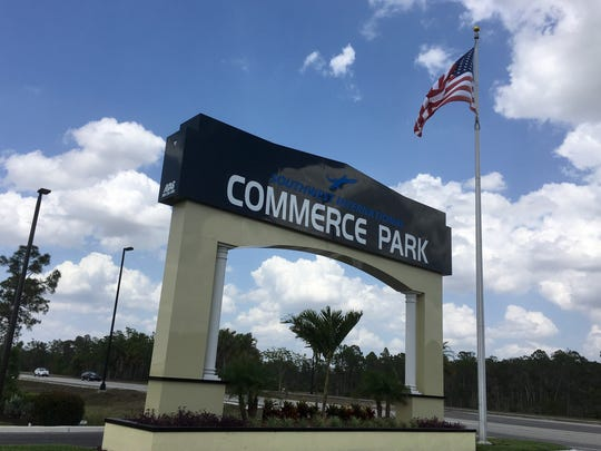 Southwest International Commerce Park is on the west side of Treeline Avenue, south of Daniels Parkway.