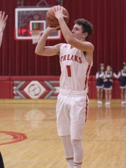 SJCC's Zach Wonderly canned two 3-pointers, including