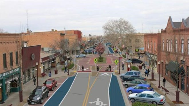 A rendering shows what downtown Farmington could look like if the Complete Streets project is completed.