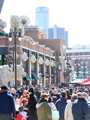 Detroit Tigers Opening Day brings fans out in droves.