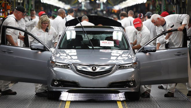 Acura just started production of its TLX sedan in Ohio.