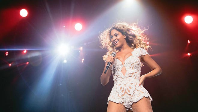 Beyonce performs onstage at her Mrs. Carter Show World Tour 2013.