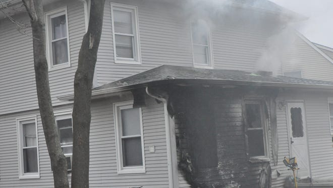 The house fire on Friday afternoon at 50 North Gateway Drive in Toms River on Friday.
