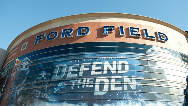 Oct 25, 2015; A general view of Ford Field.