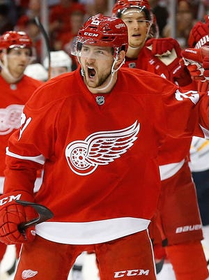 Detroit Red Wings left wing Tomas Tatar.