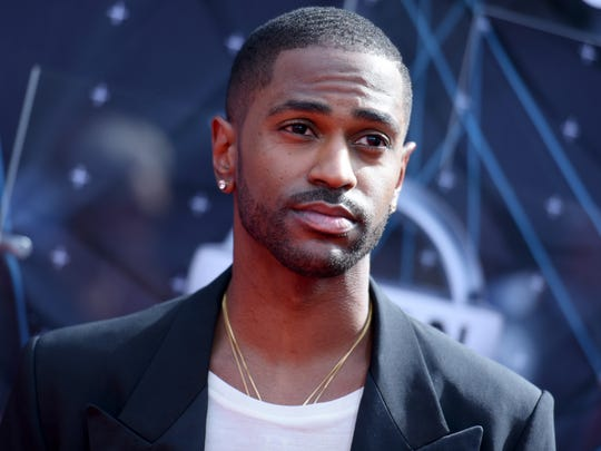 In this June 28, 2015, photo, Big Sean arrives at the BET Awards at the Microsoft Theater in Los Angeles.