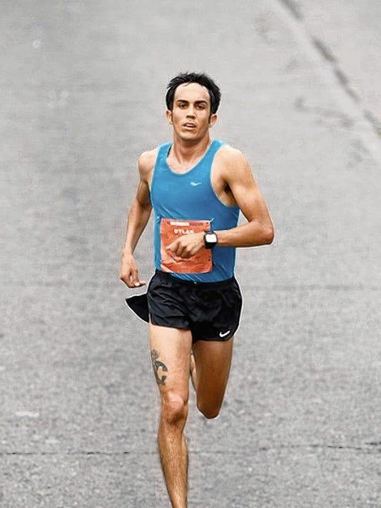 Courtesy of the San Francisco Marathon Las Crucen Dylan Villescas runs in the San Francisco Marathon on July 26.