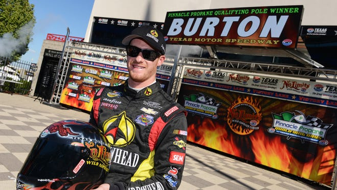 Jeb Burton won the Camping World Truck Series race at Texas Motor Speedway in June and later won the pole for the November truck race at Texas.